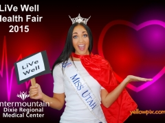 2015 DRMC Health Fair Photobooth Miss Utah by yelowpix.com