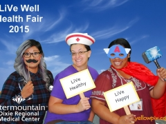 2015 DRMC Health Fair Photobooth fun props