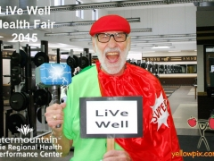 2015 DRMC Health Fair Photos Super Hero Volunteer at the yellowpix.com photo booth