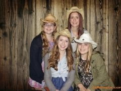 Wedding Cowgirls in the yellowpix.com photo booth