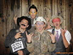 western wedding screaming good time in the yellowpix.com photo booth